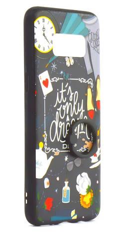 Чехол накладка для Samsung Galaxy G950 S8 TPU с кольцом Чаепитие, фото 2