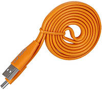 Кабель GOLF GC-03M Standard Flat Micro cable 1m Orange