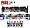 Сет (набор) краски SOLID INK Mega Set 60 цветов по 1 унц (30мл), фото 2