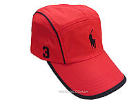 Красная бейсболка POLO с черной окантовкой козырька