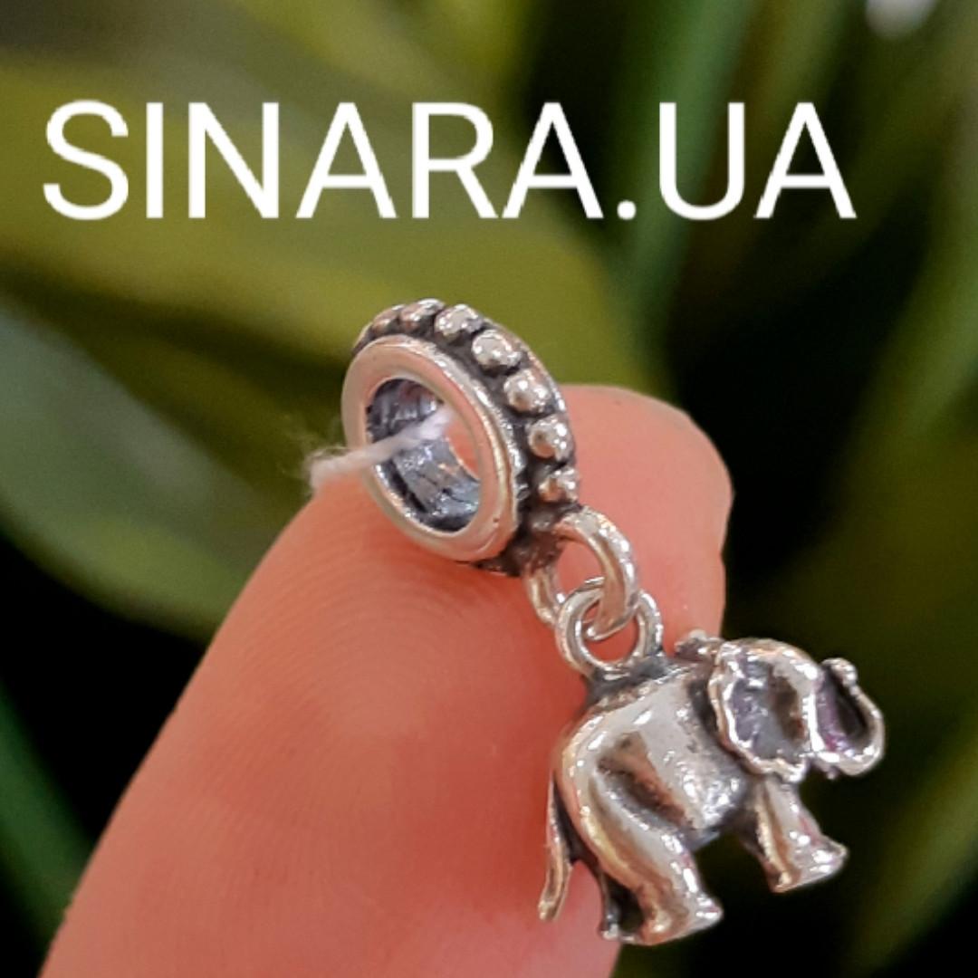 Шарм бусина Пандора Слон серебро 925 - Серебряный Слон шарм Пандора