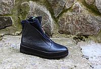 Ботинки зимние с  декоративной молнией 3 в 1 .  Натуральная кожа.  2099