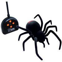 """Игрушка гигантский паук на радиоуправлении """"Черная Вдова"""": длина 28см. игрушки на Р/У, детские игрушки"""