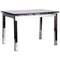 Стол обеденный раскладной Глория B179-34-2 хром/стекло платина, TM AMF