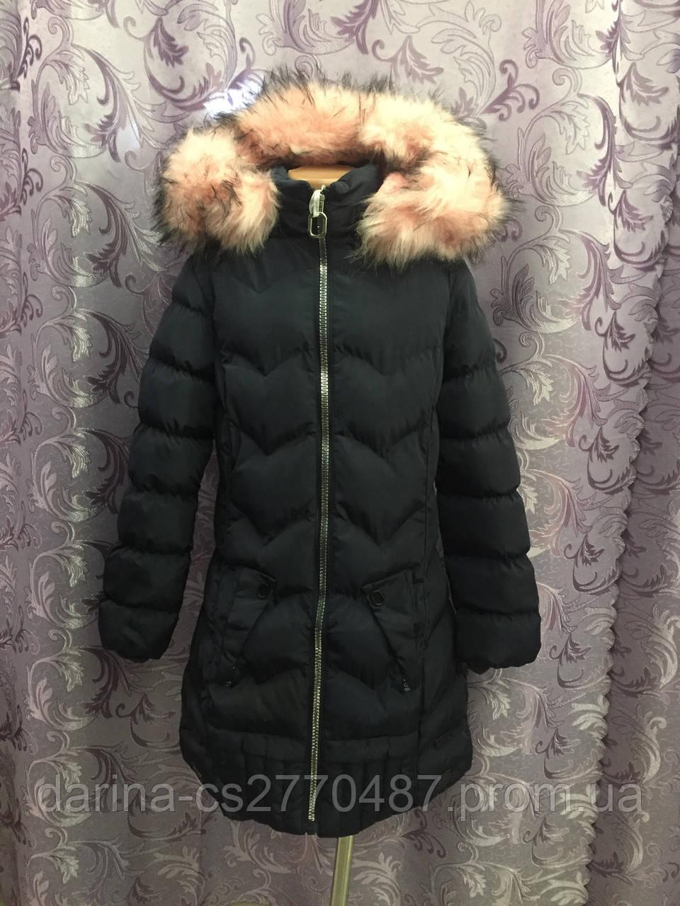 Подростковое зимнее пальто для девочки 12 л