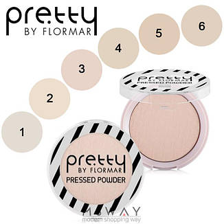 FlorMar PRETTY - Пудра компактная Pressed Powder Тон 02 light porcelain beige, фото 2