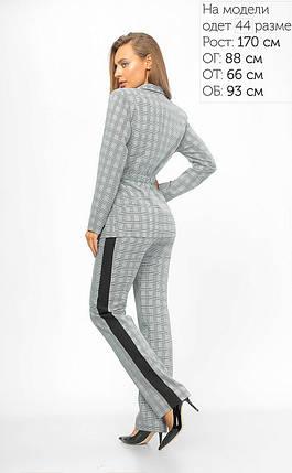 Женский классический брючный костюм в клетку 42-48 р, фото 2
