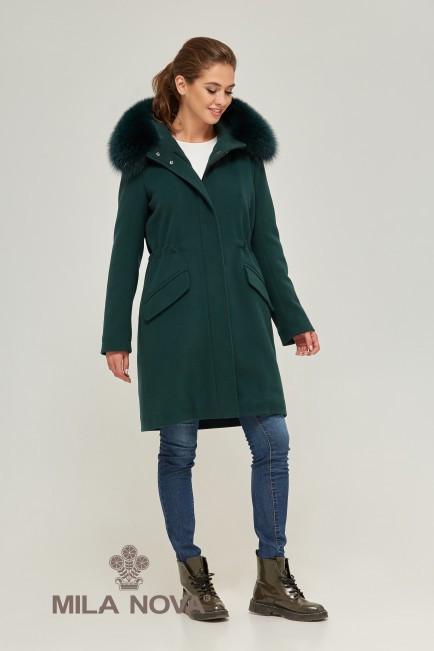 Зимняя парка пальто Зеленый
