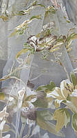 Білий тюль на органзі з візерунком Тигрова лілія, фото 1