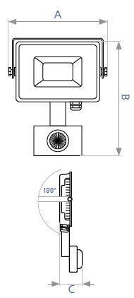 Светодиодный прожектор LED DELUX FMI10S 30W с датчиком движения, фото 2