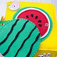 Бизикубик для детей развивающий ручной работы мягкий, фото 4