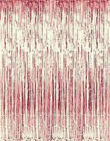 Фотозона из фольги 1*3 м розовая