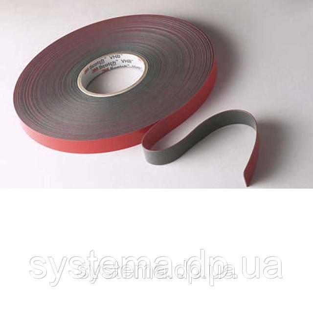 3M™ VHB™ 4611F - Двухсторонний монтажный скотч 3M, высокотемпературный, 9,0х1,1 мм, рулон 33 м