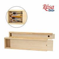 Пенал для кистей деревянный ПК8, (38х9,8х4см), ROSA Studio