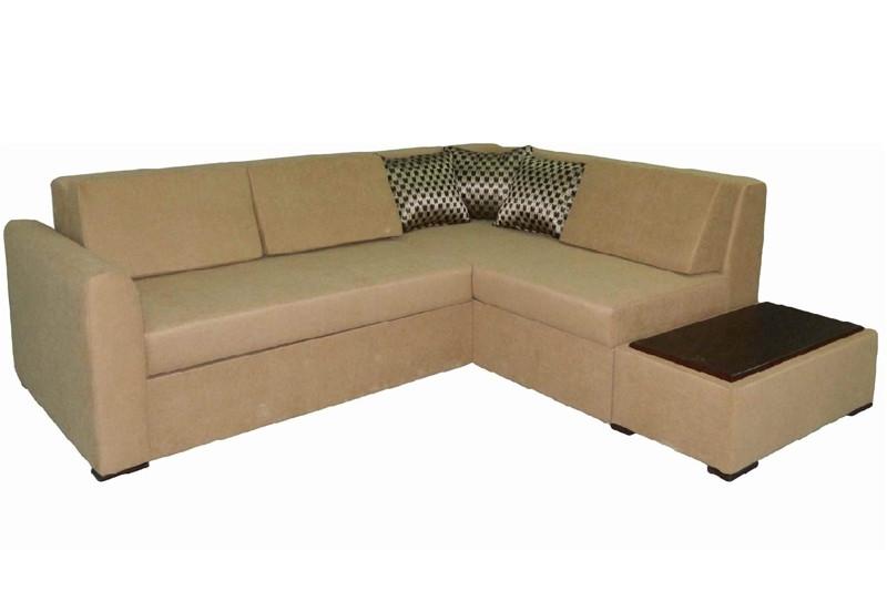 Кутовий розкладний диван в вітальню з натурального дерева Соната Скіф
