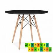 Стол для кафе круглый 80 см Тауэр Вуд, дерево черный
