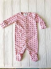 """Человечек для новорожденного   """"Треугольник на розовом"""""""