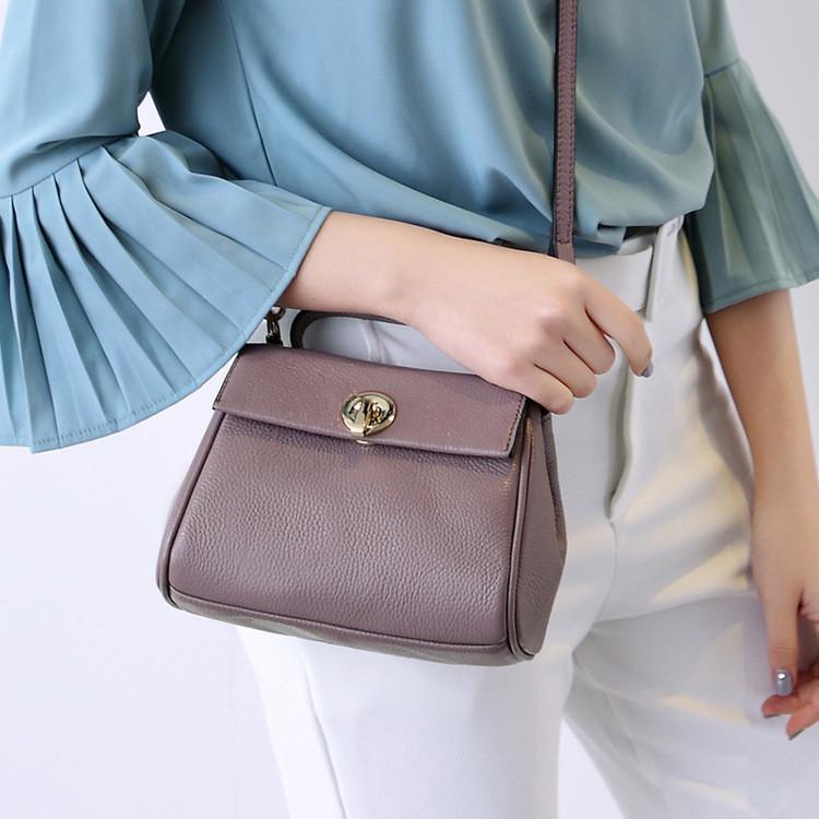Маленькая женская сумочка из натуральной кожи фиолетовая опт