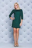 Женское замшевое платье зеленое