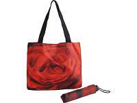 Набор «Роза»: зонт складной полуавтоматический и сумка для шопинга