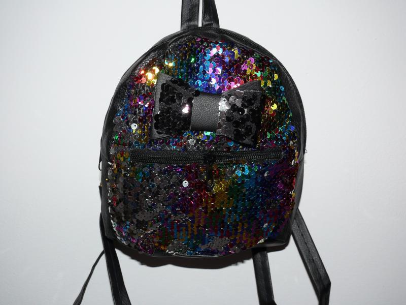 Рюкзак детский с паетками