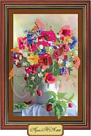 Схема для вышивки бисером «Цветочное ассорти в вазе»