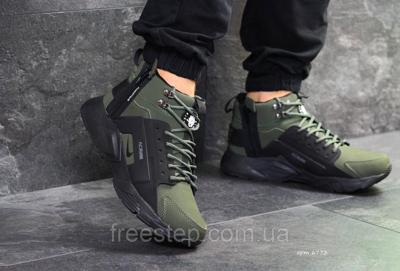 57b02aec Зимние мужские кроссовки в стиле Nike Air Huarache X Acronym City MID Lea,  натур.