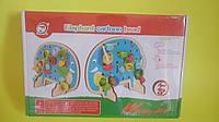 Деревянная шнуровка С 31483,  развивающая и обучающая игрушка