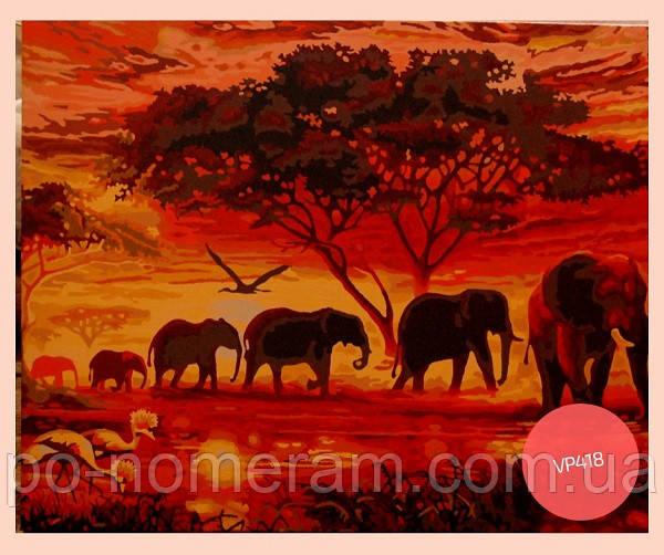 раскраска по номерам слоны - первый отзыв