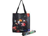 Набор «Цветы»: зонт складной полуавтоматический и сумка для шопинга
