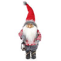 Новогодняя мягкая игрушка Санта с фонарем 72 см