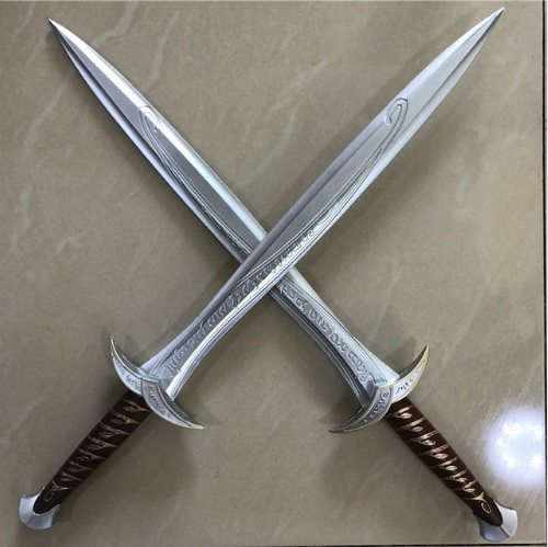 2шт! 1:1 косплэй меч Фродо  72 см из фильма Властелин Колец Хоббит, резиновый эльфийский меч Жало