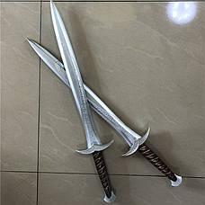 2шт! 1:1 косплэй меч Фродо  72 см из фильма Властелин Колец Хоббит, резиновый эльфийский меч Жало, фото 3