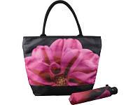 Подарочный набор «Георгин» предназначен для стильных женщин. Красивый и компактный зонт, дополняющий сумку