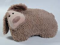 Мягкая игрушка - СОБАКА БОНЯ коричневая 40 см