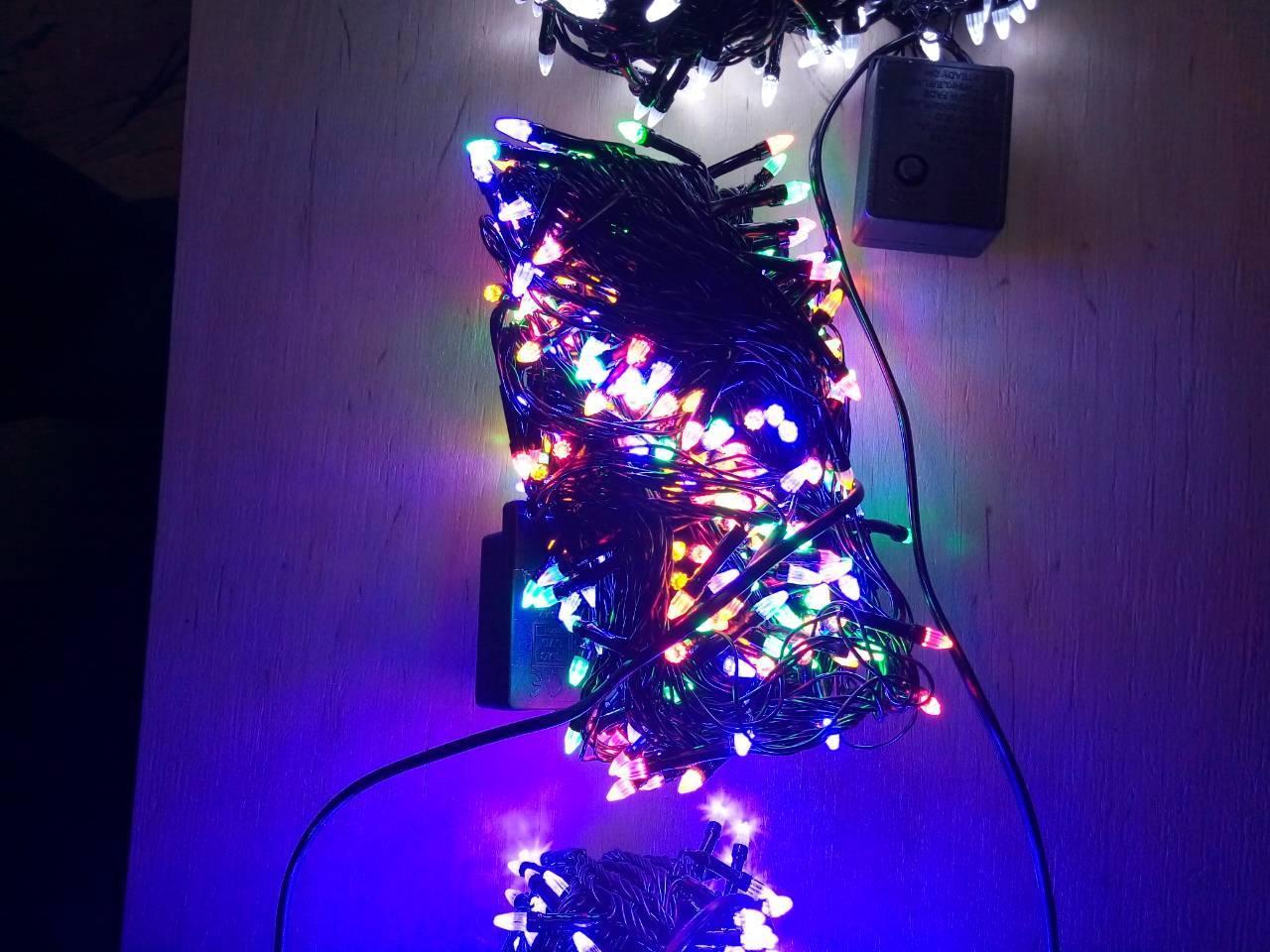Новорічна світлодіодна гірлянда КОНУС 200LED 13м мультиколор