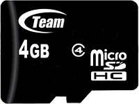 Карта памяти Team microSDHC class 4 SD adapter 4Gb, фото 1