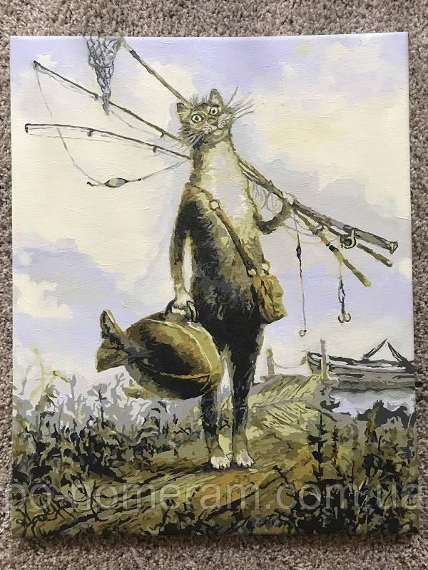 картина по номерам питерский кот