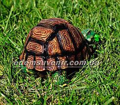 Садовая фигура Черепаха гурман, фото 3