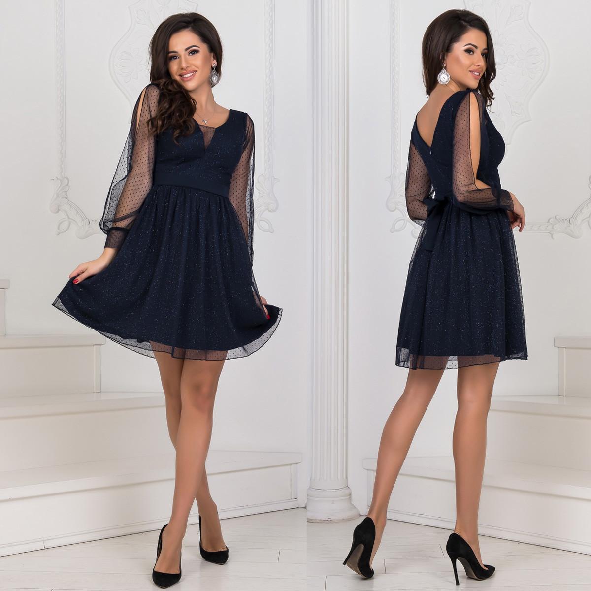 """Вечірнє, випускне блискуче коротке плаття """"Салюте"""""""