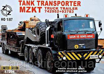 Танковый транспортер MZKT 1/87 ZZ Modell 87204