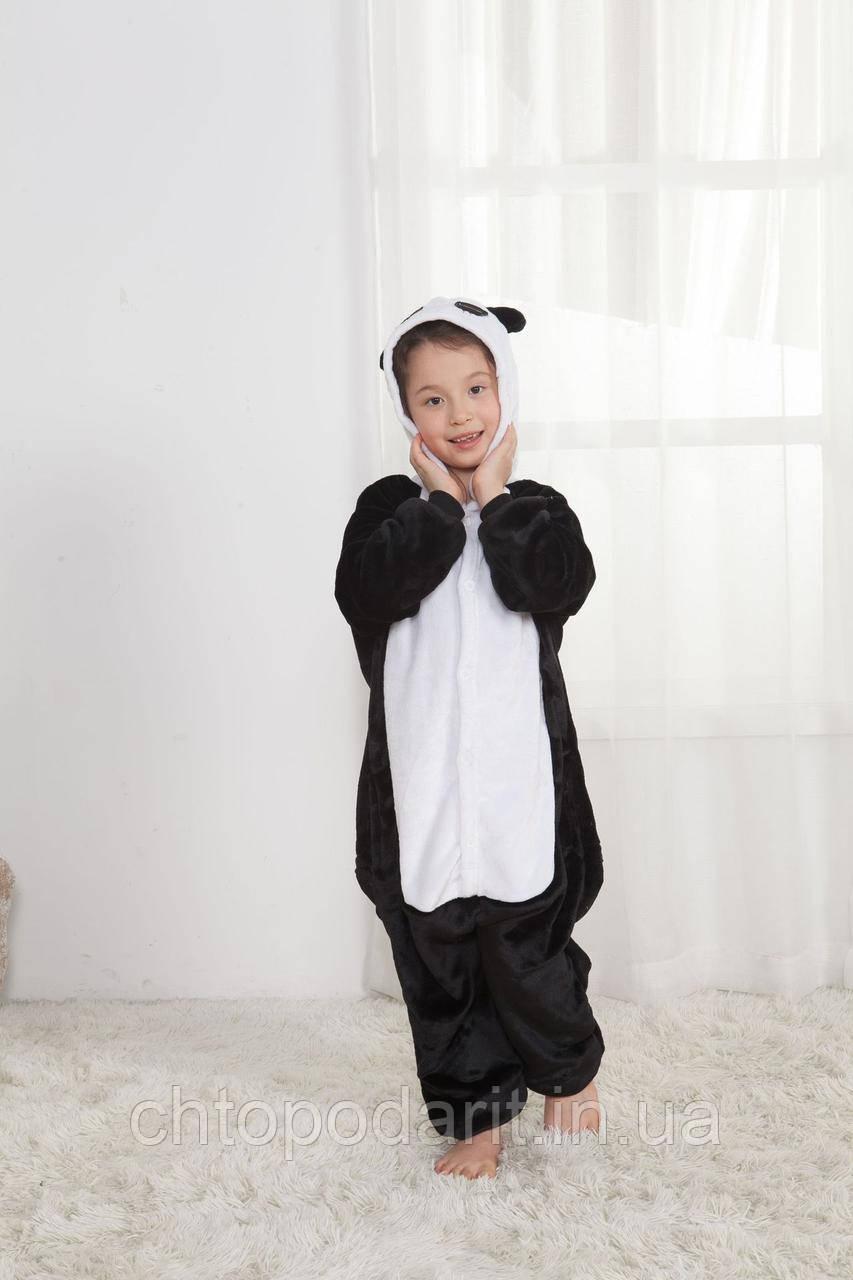 "Пижама Кигуруми детский ""Панда"" черный окрас Код 10-4161"