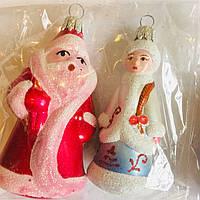 Игрушка новогодняя дед мороз и снегурочка