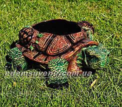 Садовая фигура цветочник Черепаха, фото 3