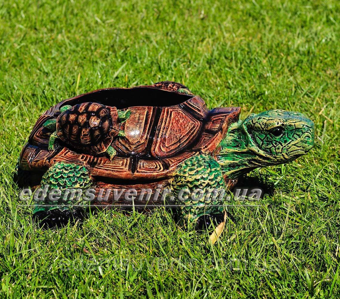 Садовая фигура цветочник Черепаха