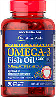 Puritans Pride Double Strength Omega-3 Fish Oil 1200 90softgels