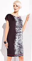 Женская летняя туника черного цвета с абстрактным рисунком. Модель Laila Zaps, коллекция весна-лето 2015