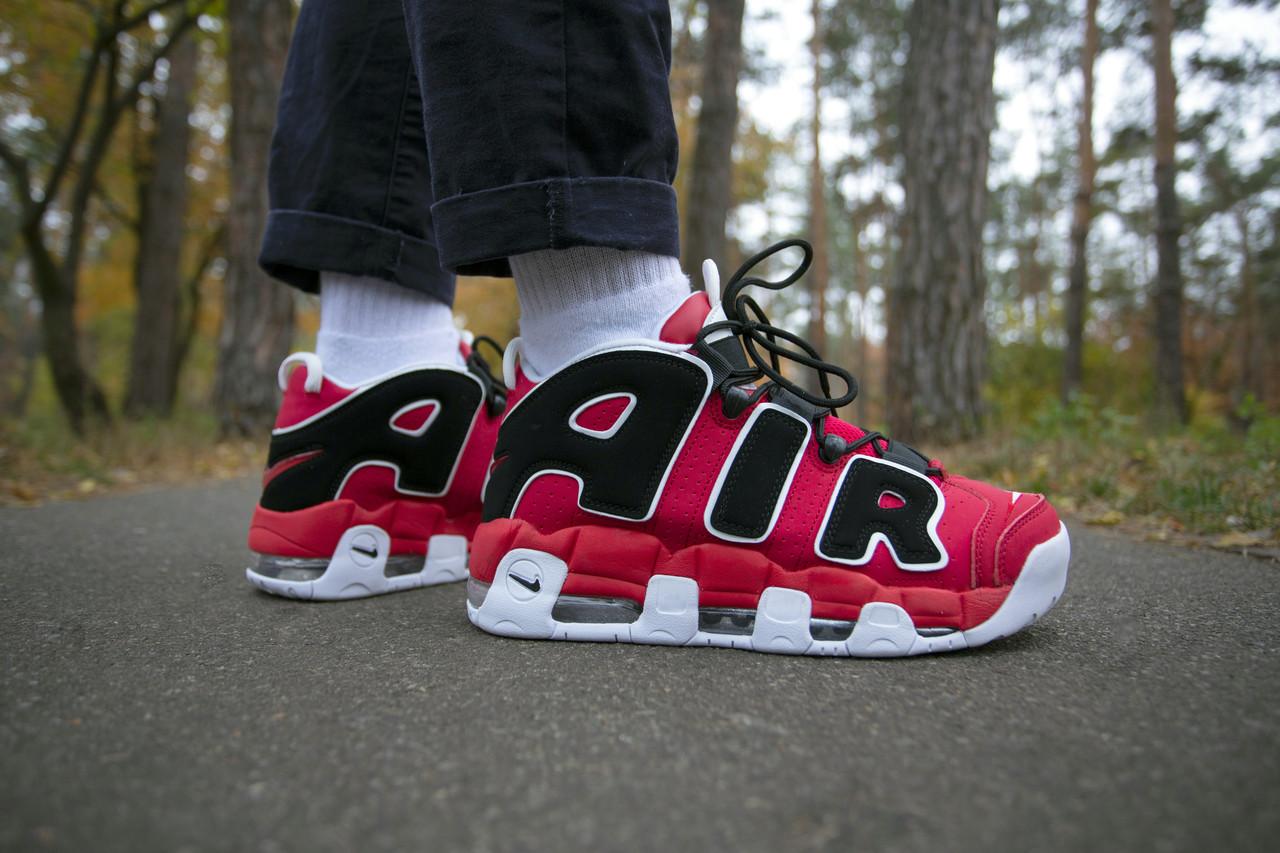 Мужские кроссовки Nike Air Uptempo Red ( Реплика )