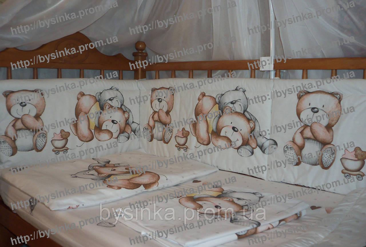 Постельный набор в кроватку новорожденного