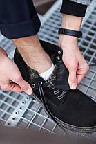 Мужские ботинки Timberland черные топ реплика, фото 2
